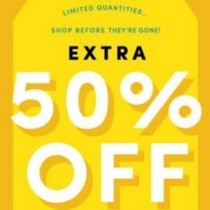50% OFF BLOWOUT